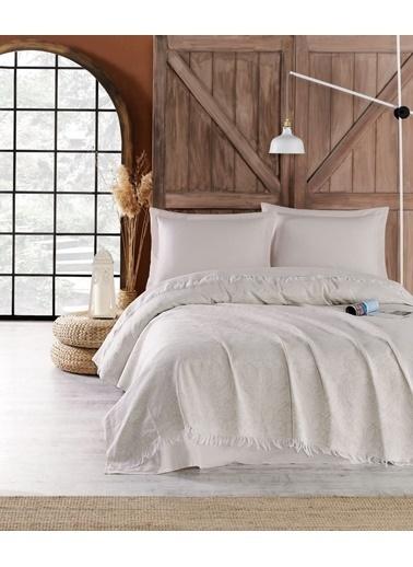 Eponj Home 4Parçalı Yatak Örtüsü Takımı Çift Kişilik Nish  Bej
